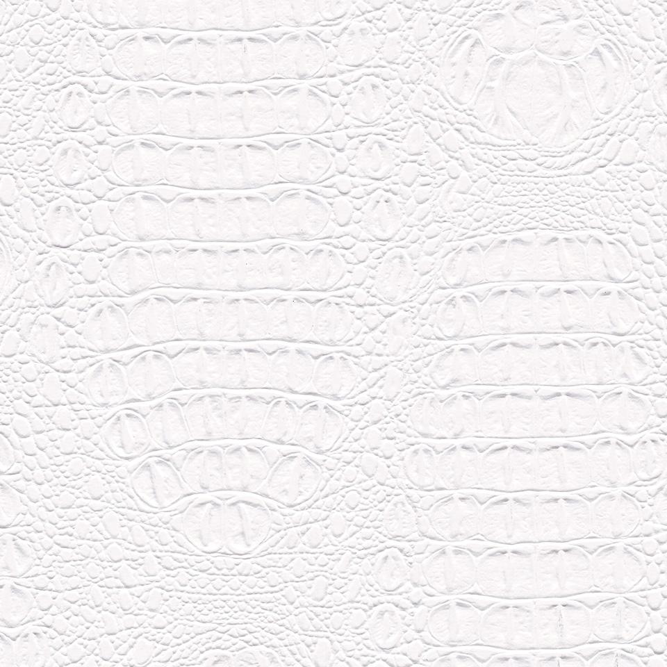 Kunstleder Krokodil weiß
