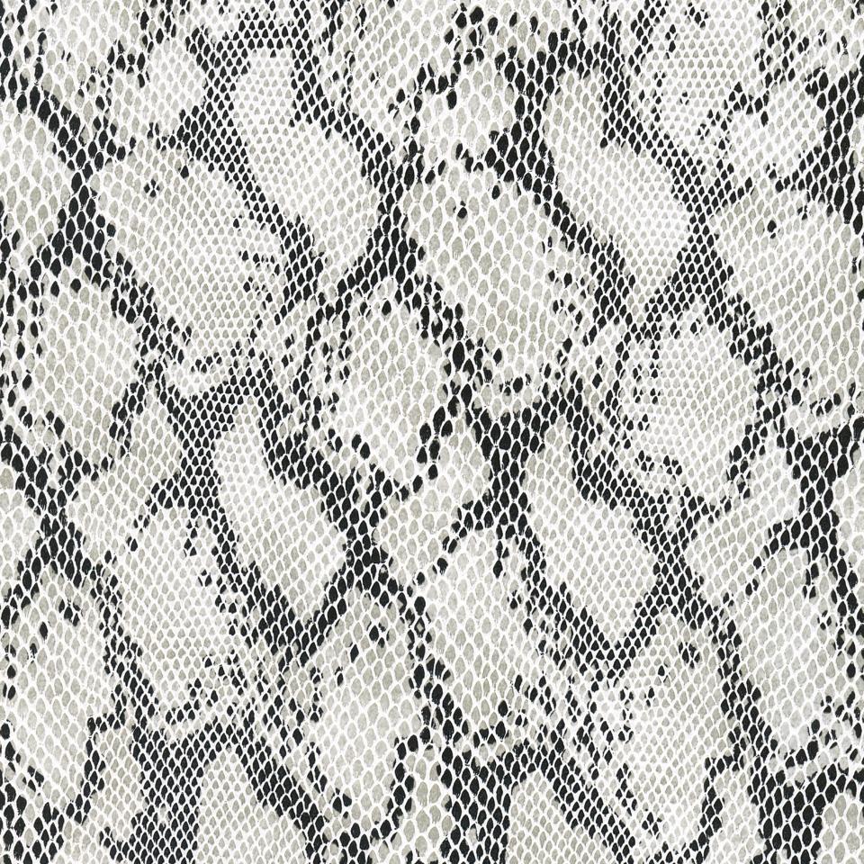 Kunstleder Schlange weiß-schwarz