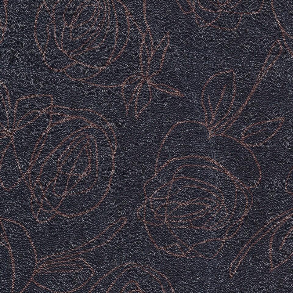 Kunstleder Roses dunkelbraun