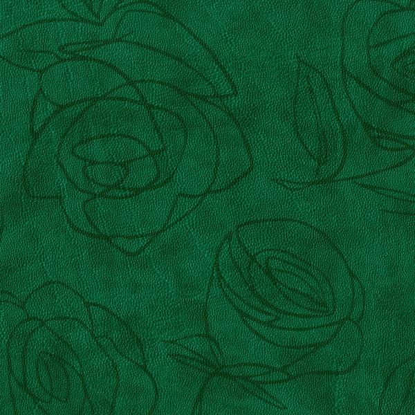 Kunstleder Roses dunkelgrün