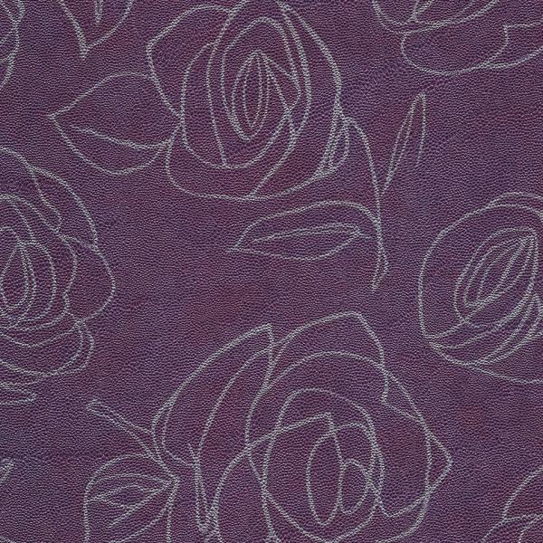 Kunstleder Roses aubergine