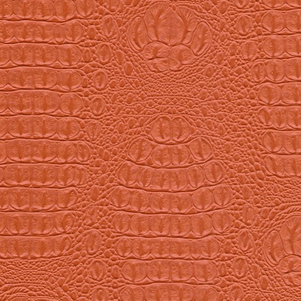 Kunstleder Krokodil orange
