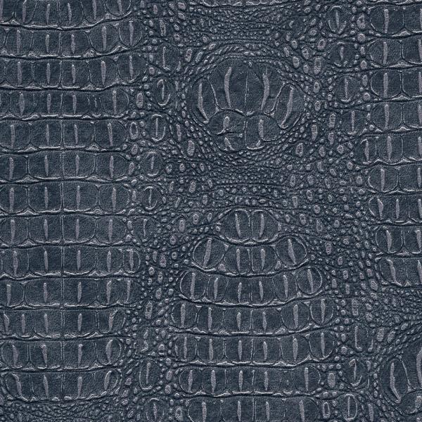 Kunstleder Krokodil granit