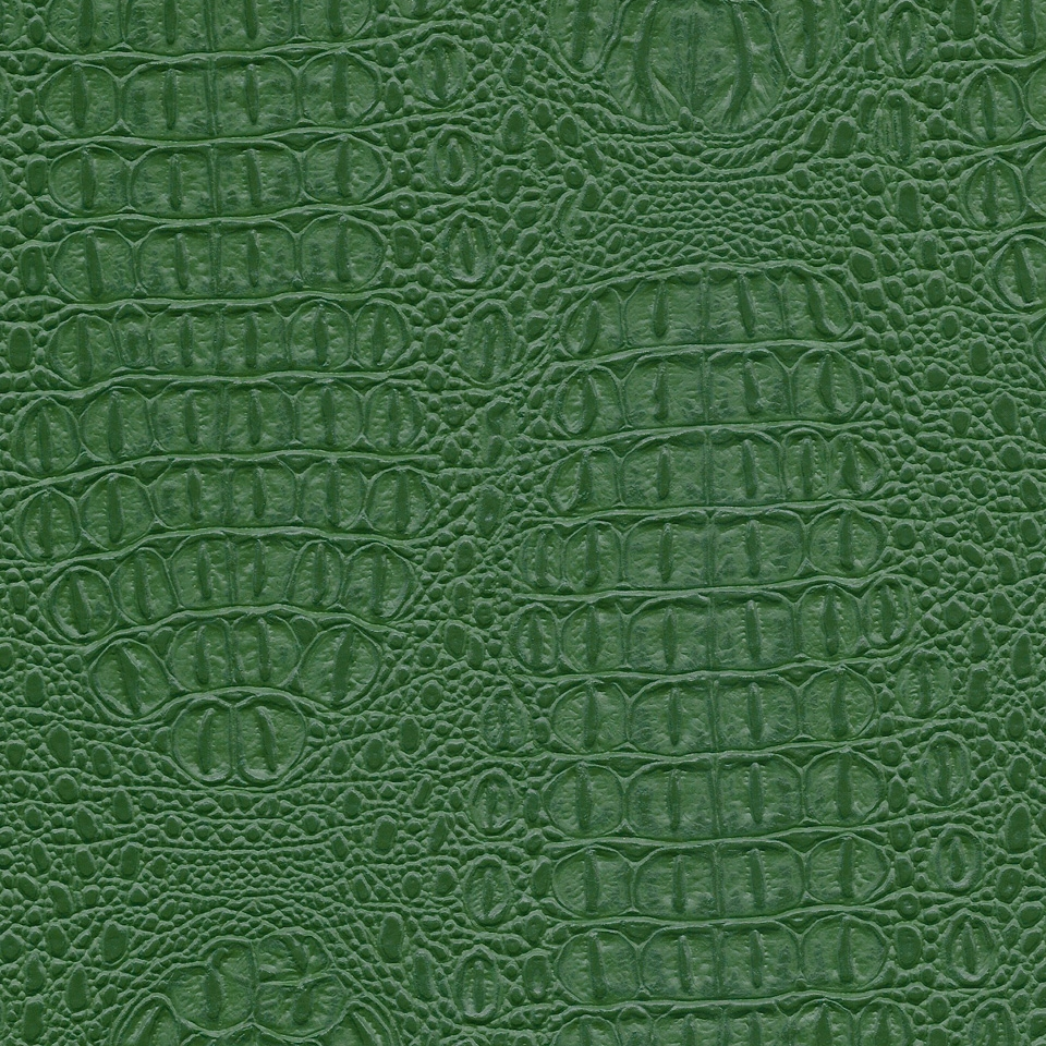 Kunstleder Krokodil grün