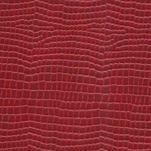 Kunstleder Python dunkelrot