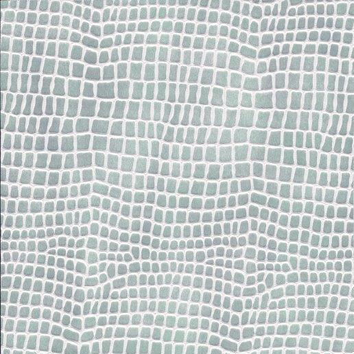 Kunstleder Python mint-weiß