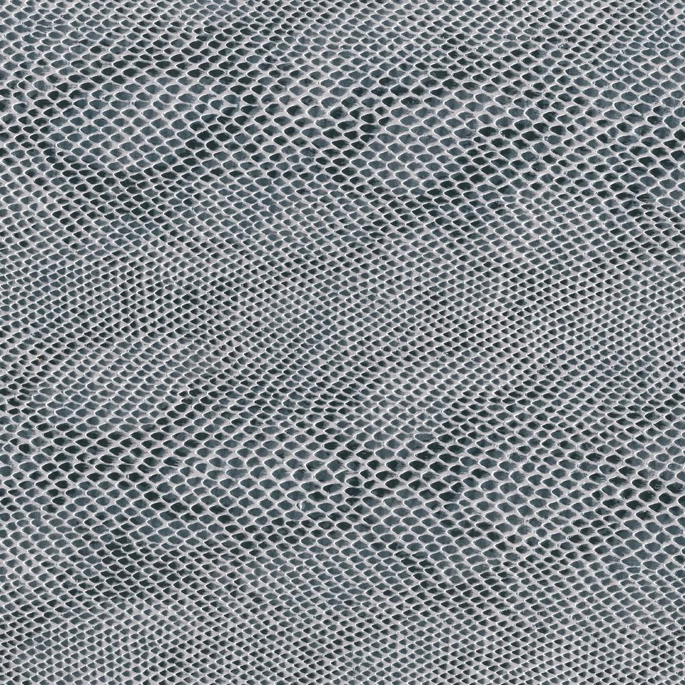 Kunstleder Schlange grau-metallic