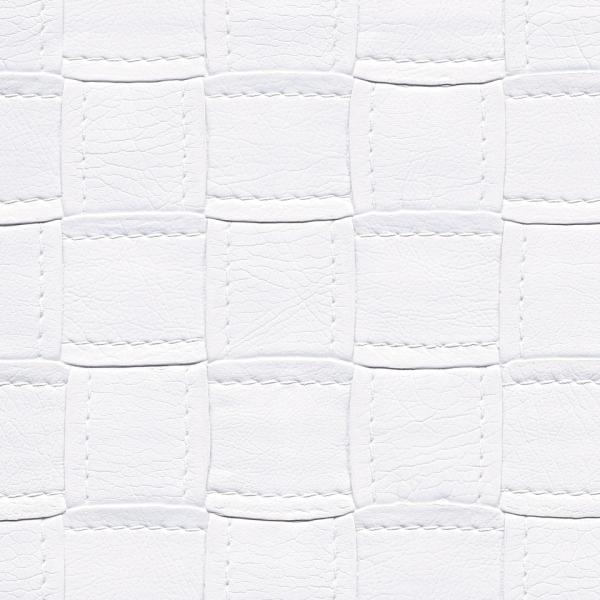 Kunstleder CrissCross weiß