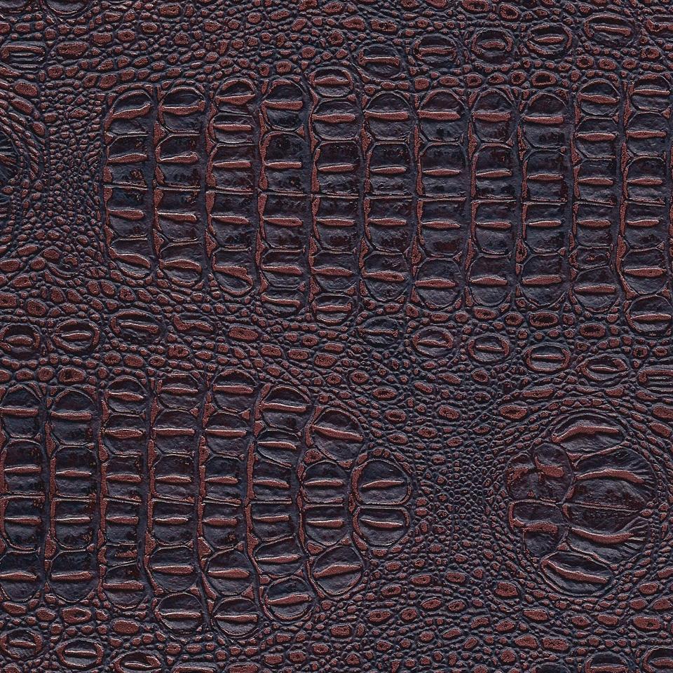 Kunstleder Krokodil dunkelbraun-bronze