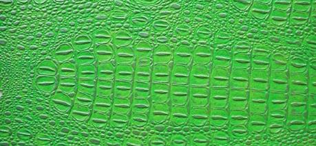 """Kunstleder """"Krokodil"""" apfelgrün-silber"""