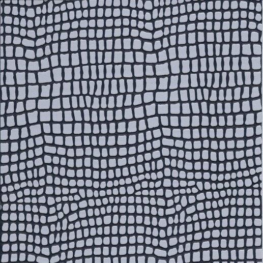Kunstleder Python schwarz-silber