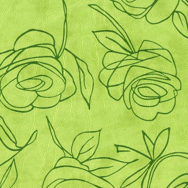 Kunstleder Roses apfelgrün