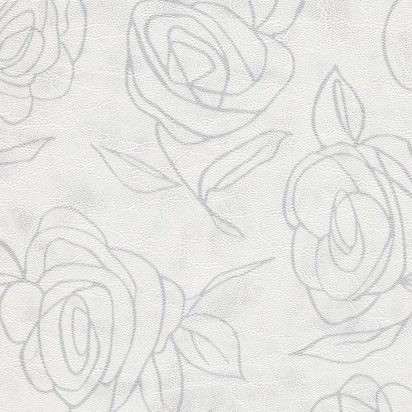 Kunstleder Roses creme