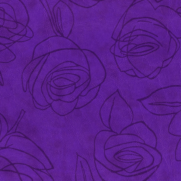 Kunstleder Roses lila