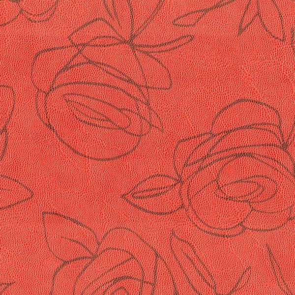 Kunstleder Roses rot